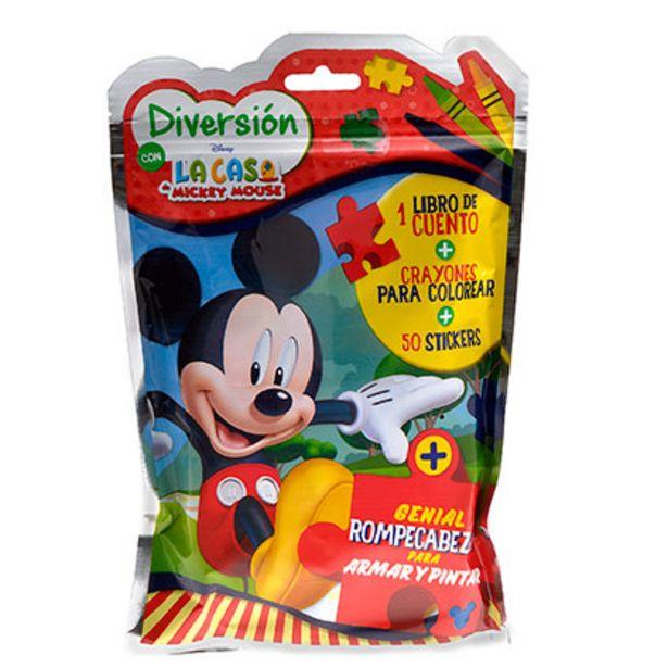 Oferta de Mini Flow Pack Juegos Block de Actividades Mickey por $299