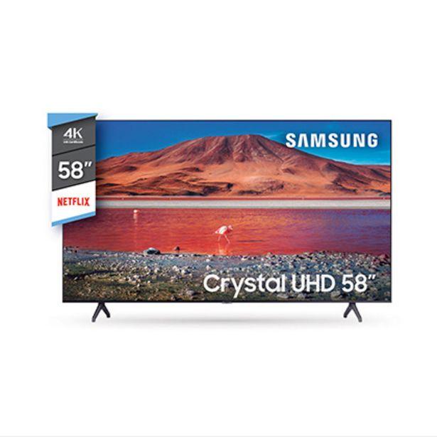 "Oferta de Tv Smart Led 58"" Crystal Ultra Hd 4 K Bluetooth Samsung UN58TU7000GCZB por $80999"