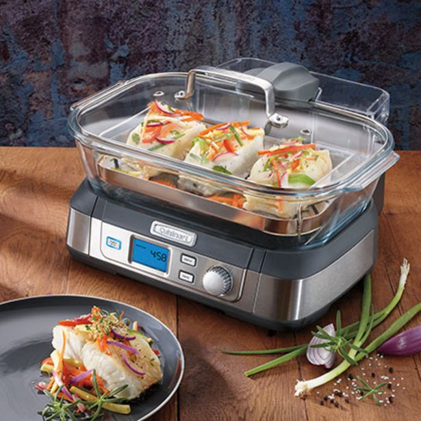 Oferta de Vaporera Digital Cookfresh Cuisinart STM1000AR por $39099