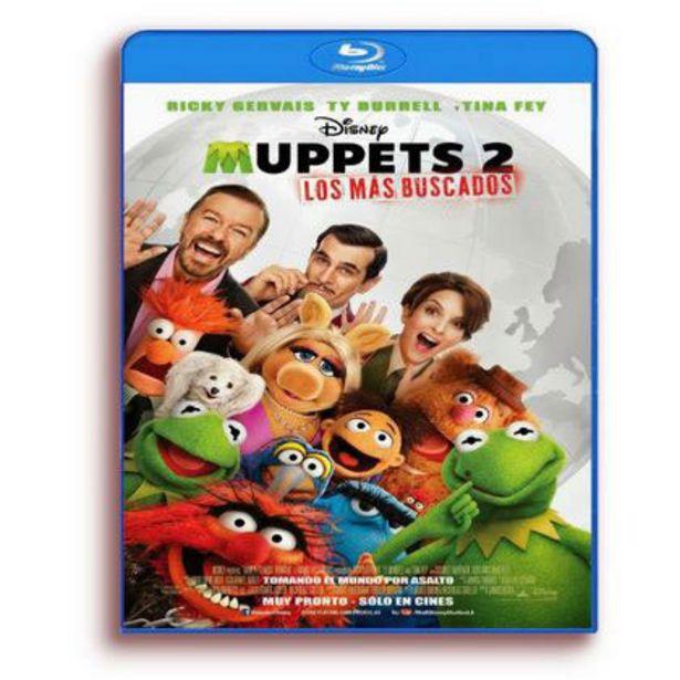Oferta de Blu-Ray Disney Muppets 2: Los Mas Buscados por $80