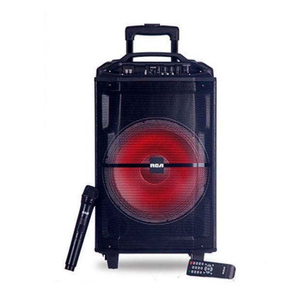 Oferta de Parlante De Audio Portátil Bluetooth Karaoke Luces 2300 W Pmpo Rca Carry RSFEST12 por $18499