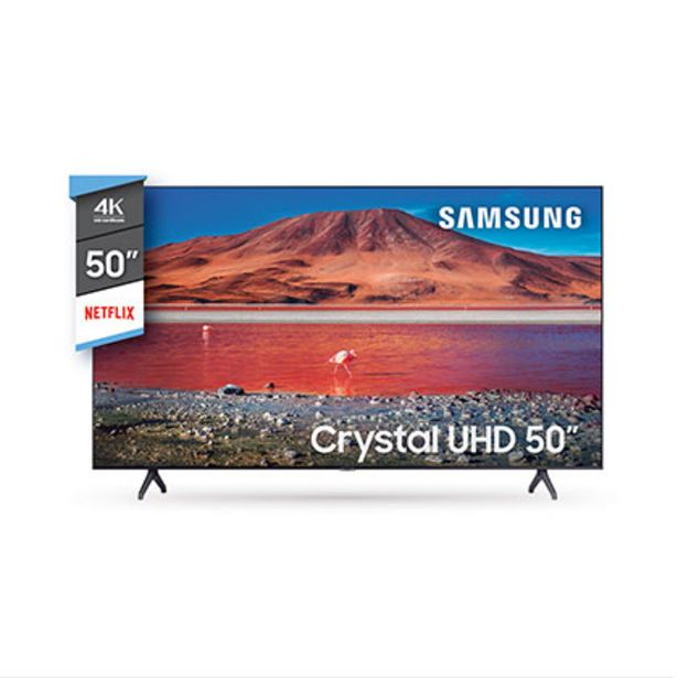 "Oferta de Tv Smart Led 50"" Crystal Ultra Hd 4 K Bluetooth Samsung UN50TU7000GCZB por $58999"