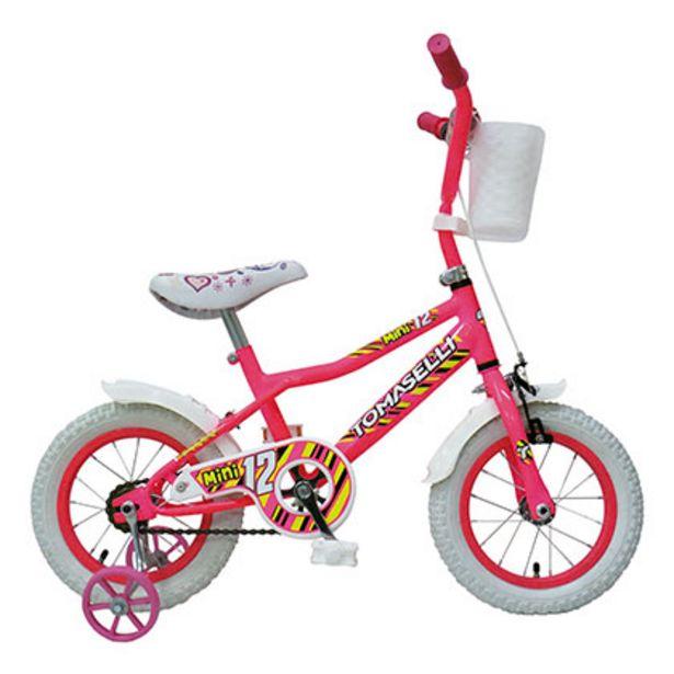 Oferta de Bicicleta Rodado 12 Tomaselli Mini Bici Rosa por $9499