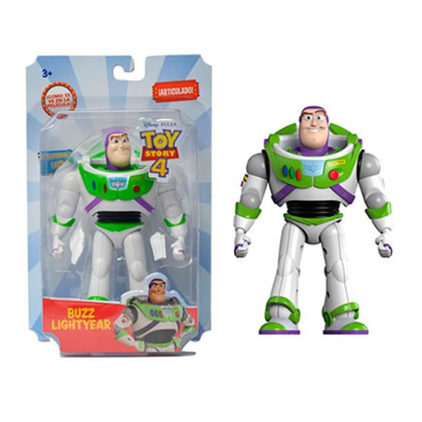 Oferta de Buzz Lightyear Muñeco Articulado 12.7Cm Toy Story 4 Disney 5613 por $1599
