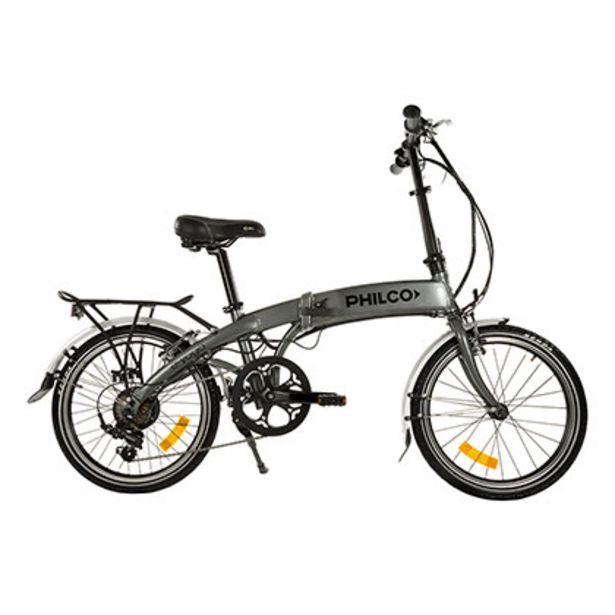 Oferta de Bicicleta Plegable Eléctrica Rod.20 E Yoga Philco SEFA20VN070U Gris por $118499