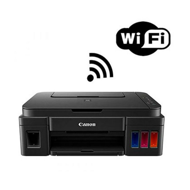 Oferta de Impresora Multifunción Imprime Copia Escanea Sistema Continuo Wifi Canon Pixma G3100 por $21599