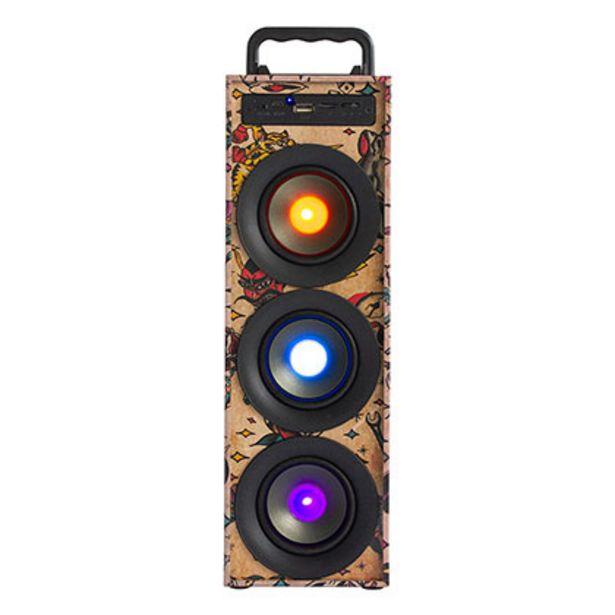 Oferta de Parlante De Audio Portátil Bluetooth Luces Stromberg Kazz Trap por $3299