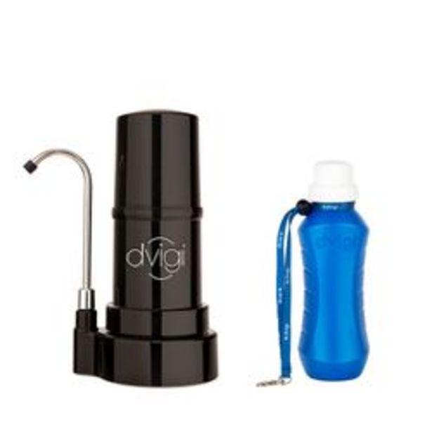 Oferta de Purificador de Agua Sobre Mesada Dvigi Negro + Botella purificadora por $12879