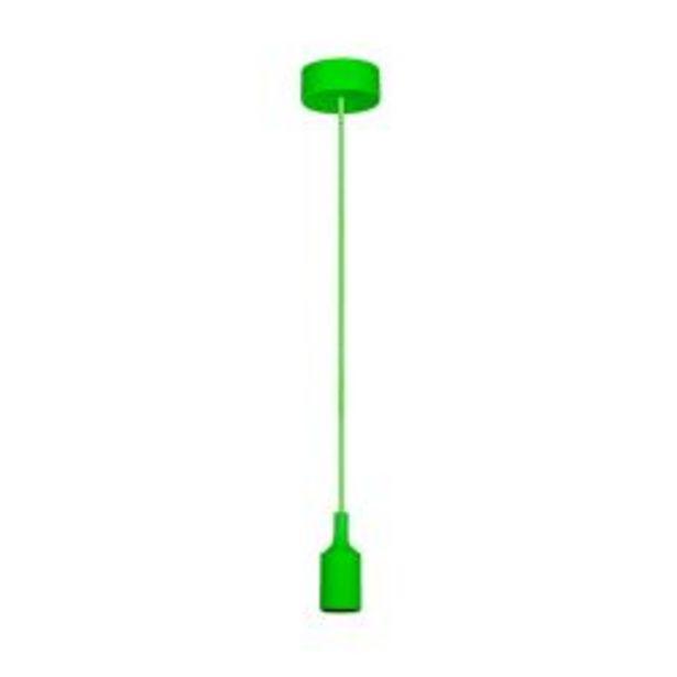 Oferta de Lampara colgante de techo moderna Faroluz 11001 verde por $715