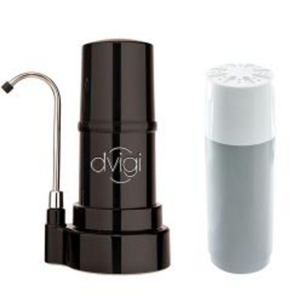 Oferta de Purificador de Agua Sobre Mesada Dvigi Negro + 1 Repuesto por $14959