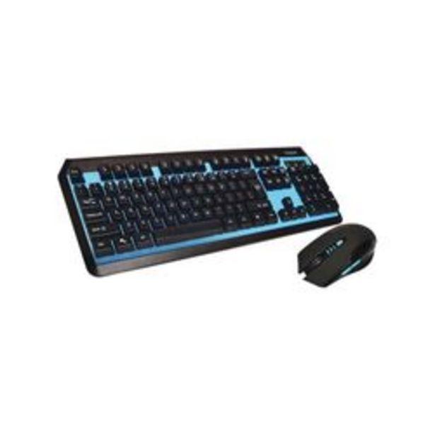 Oferta de Teclado y Mouse Gamer Inalambrico Noga Negro.Azul por $2649,25