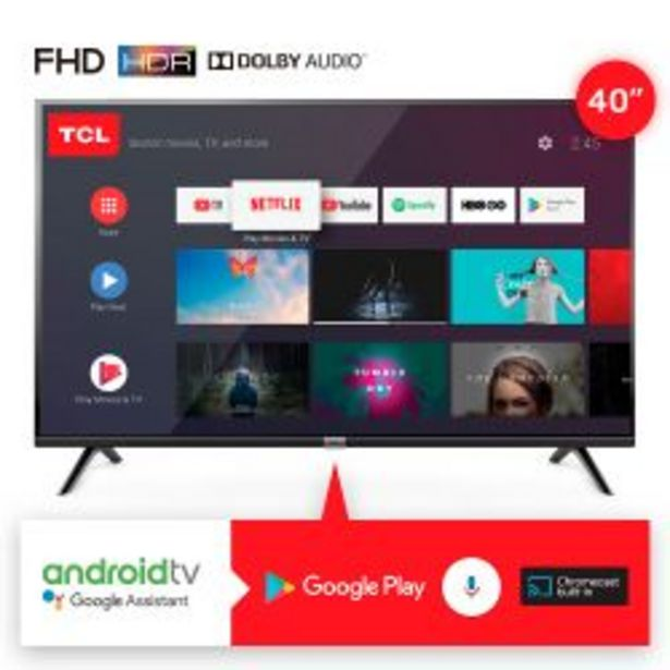 "Oferta de Smart TV 40"" Full HD TCL L40S6500 por $31999"