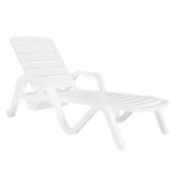 Oferta de Reposera Toronto de plástico blanco de 5 posiciones por $10125