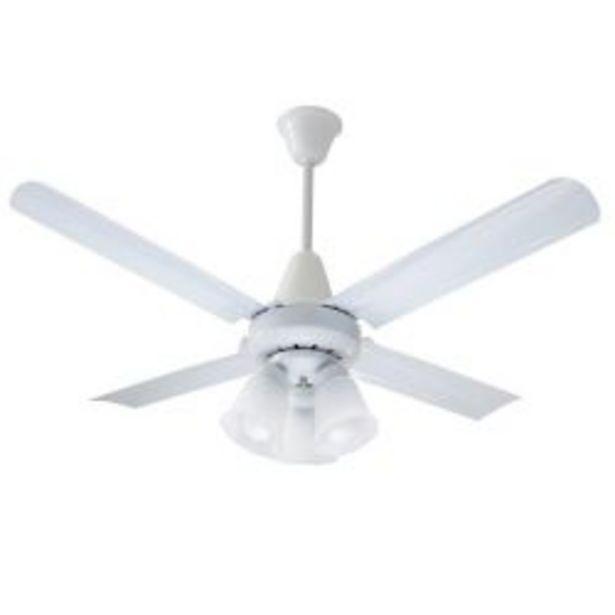 Oferta de Ventilador de Techo Exahome 605 Blanco por $12499