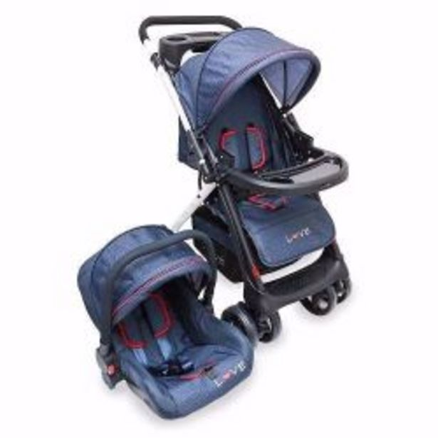 Oferta de Cochecito Travel System Manija Rebatible Love 2224 Denim por $24479