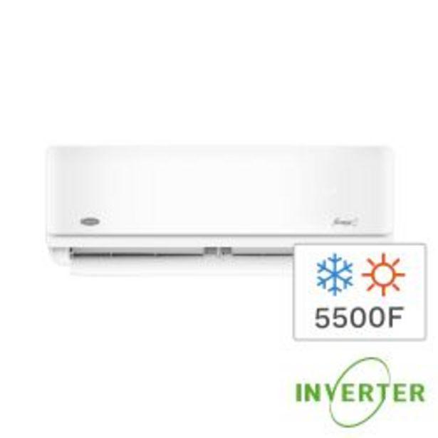 Oferta de Aire Acondicionado Split Inverter Frío/Calor Carrier  5500F 6400W 53HVA2201E por $109999
