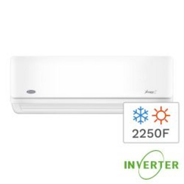 Oferta de Aire Acondicionado Split Inverter Frío/Calor Carrier  2250F 2620W 42HVA0901E por $47999