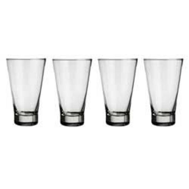 Oferta de Vasos de vidrio Ilhabela x 4 (7623/12) por $839