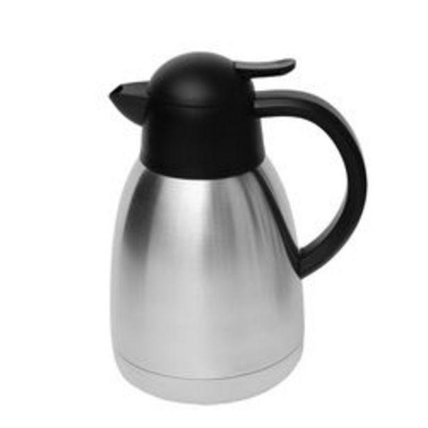 Oferta de Jarra Termica 1.2 L con Boton Vertedor Negro Nouvelle Cuisine Acero Inoxidable 1090140 por $3219