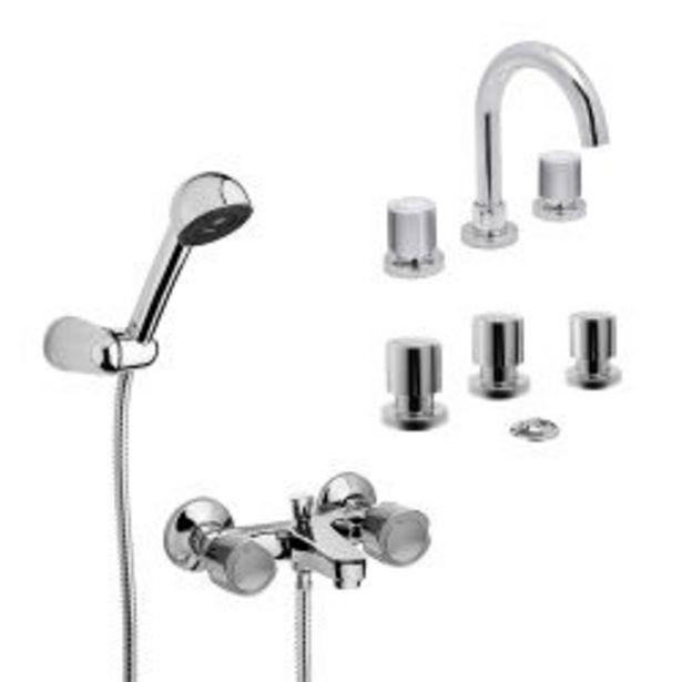 Oferta de Griferia kit lavatorio + ducha de exterior + bidet Hydros Viva Cromo por $10800