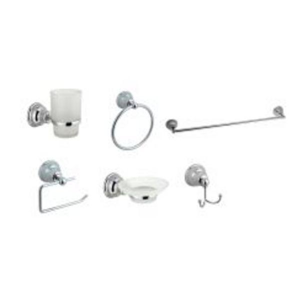 Oferta de Set de 6 accesorios para baño Hydros Kiss 50063011 por $3905
