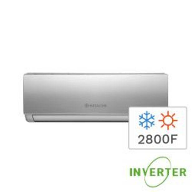 Oferta de Aire Acondicionado Split Inverter Frío Calor Hitachi 2800F 3300W HSAM3300 por $53999