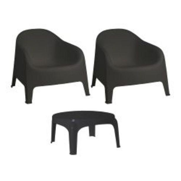 Oferta de Combo de 2 sillones Skarpo negro + mesa Puket por $11999