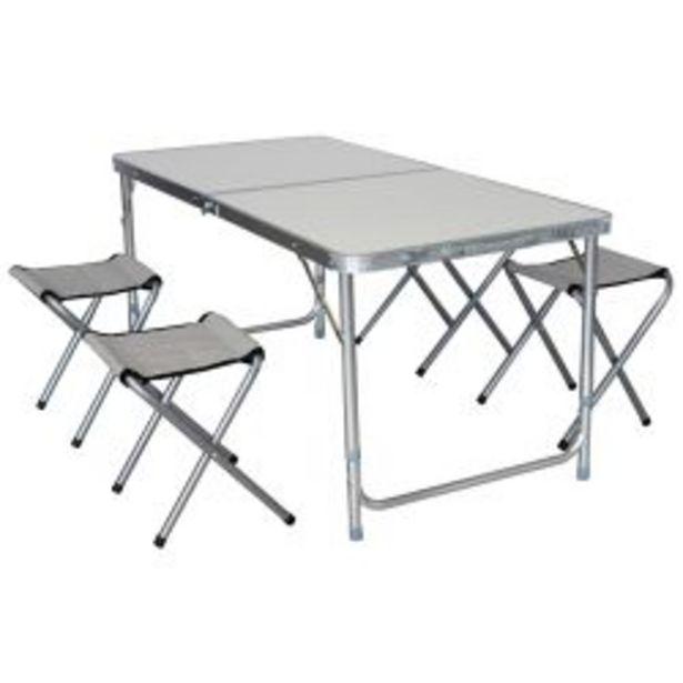 Oferta de Mesa Plegable de Aluminio + 4 Banquetas por $9999