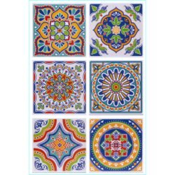 Oferta de Set de Azulejos Autoadhesivos Muresco 16221 15 cm por $1395