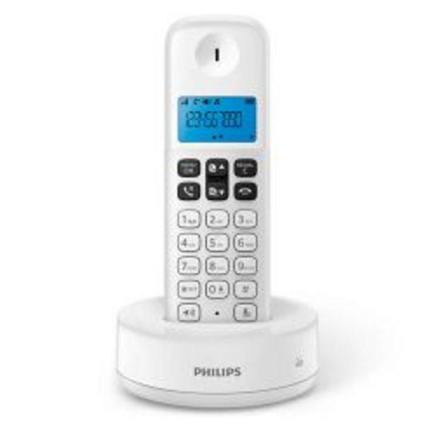 Oferta de Teléfono Inalámbrico Philips D1311W/77 por $3499