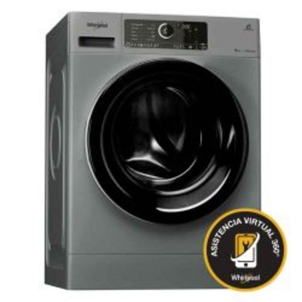 Oferta de Lavarropas Carga Frontal Sense Inverter Whirlpool 9Kg 1400 RPM WLCF90SAAR por $74999