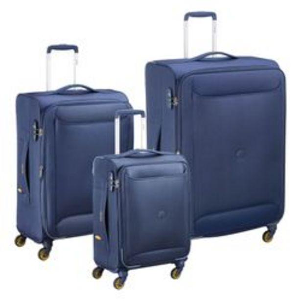 Oferta de Set de 3 Valijas Delsey Chartreuse Azul por $36450