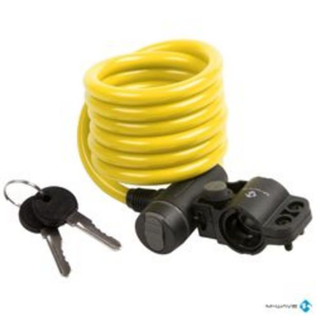 Oferta de Candado Cable de 180 cm Amarillo por $1200