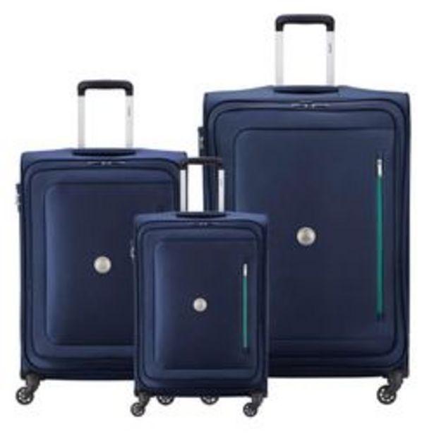Oferta de Set de 3 Valijas Delsey Oural Azul por $28476