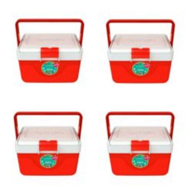 Oferta de Set de 4 Heladeritas Conservadoras Garden Life Infantil 6,7 Lt Rojo por $7839
