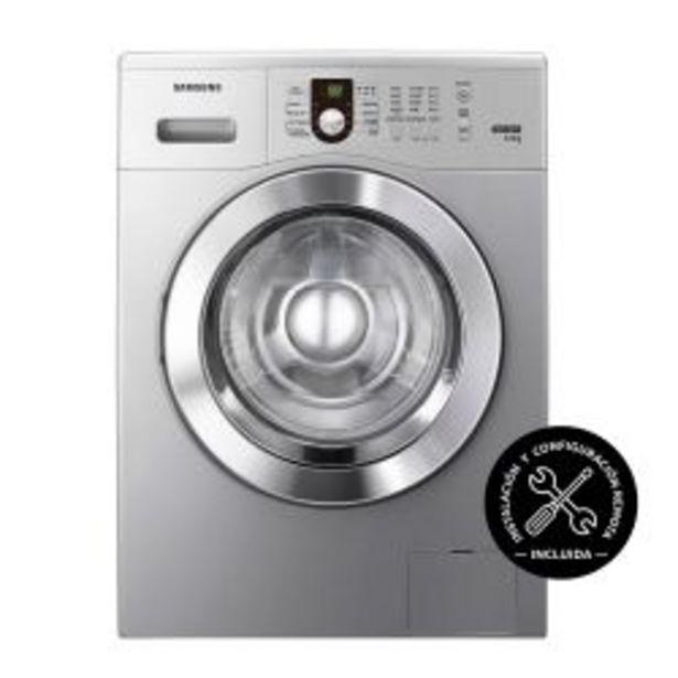 Oferta de Lavarropas Carga Frontal Samsung 6.5 Kg 1000 RPM WW65M0NHUU Plateado por $58999