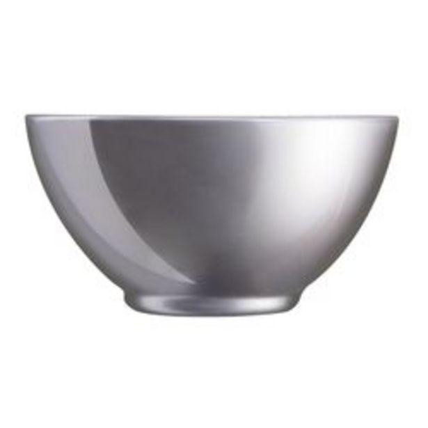 Oferta de Set de 6 bowl 500 cc Flashy silver Luminarc J1126 por $3399