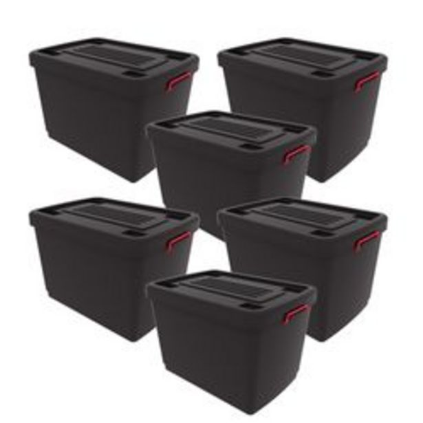 Oferta de Set de 6 Contenedores Heavy Box 95 Lts por $6999
