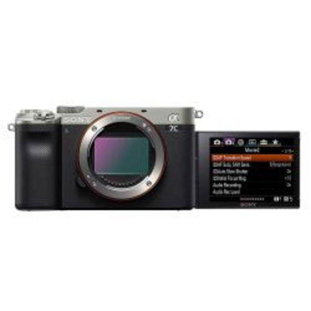 Oferta de Camara compacta full frame Sony Alpha 7C ILCE 7C color plateado por $179999