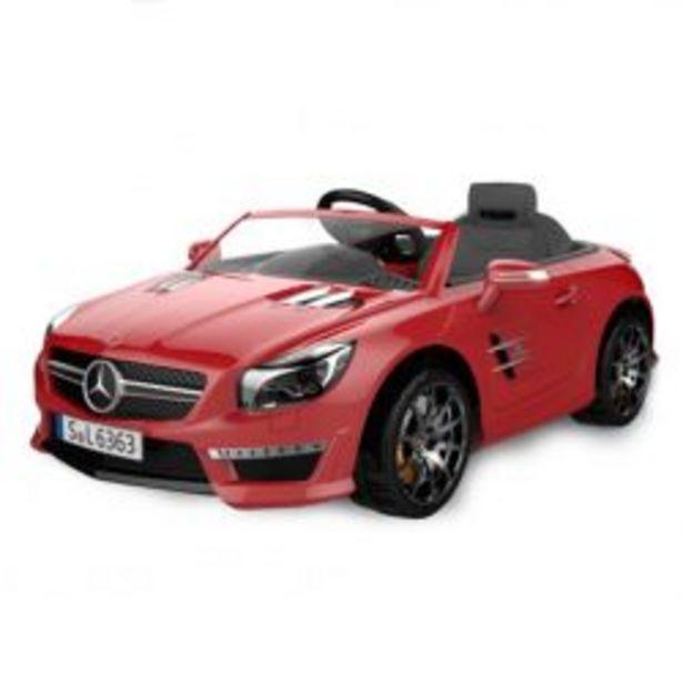 Oferta de Auto a Bateria Mercedes Benz 12V con Asiento de Cuero 3023 Color Rojo por $47089