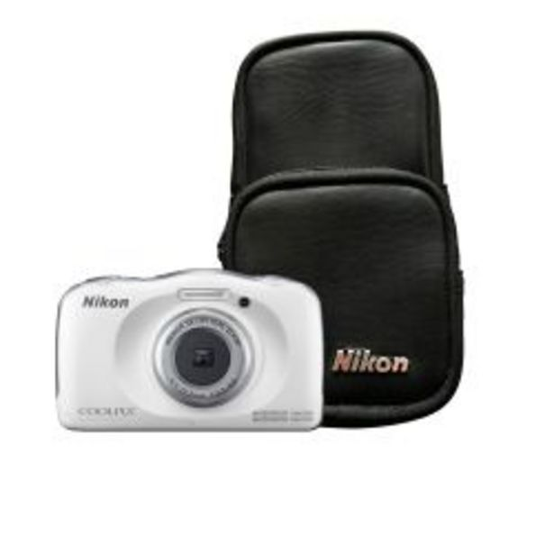 Oferta de Cámara Digital Nikon W100 13.2 MP 3x Zoom Video Full HD a prueba de Agua Kit Blanca por $23900