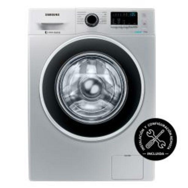 Oferta de Lavarropas Carga Frontal Inverter Samsung 7 Kg 1400 RPM WW70J4463GS Plateado por $62099