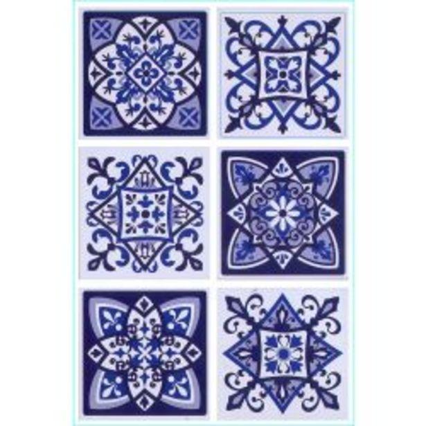 Oferta de Set de Azulejos Autoadhesivos Muresco 16231 15 cm por $1395