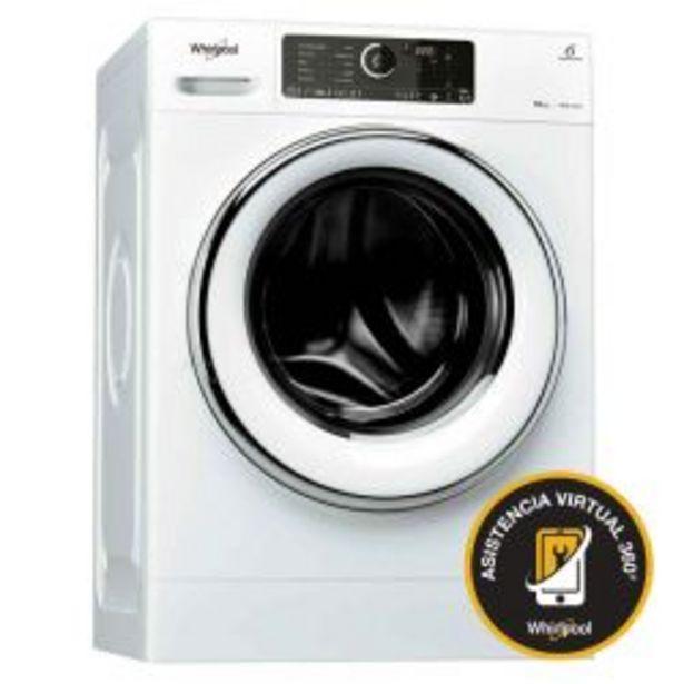 Oferta de Lavarropas Carga Frontal Sense Inverter Whirlpool 10KG 1400 RPM WLCF10BAAR por $76999