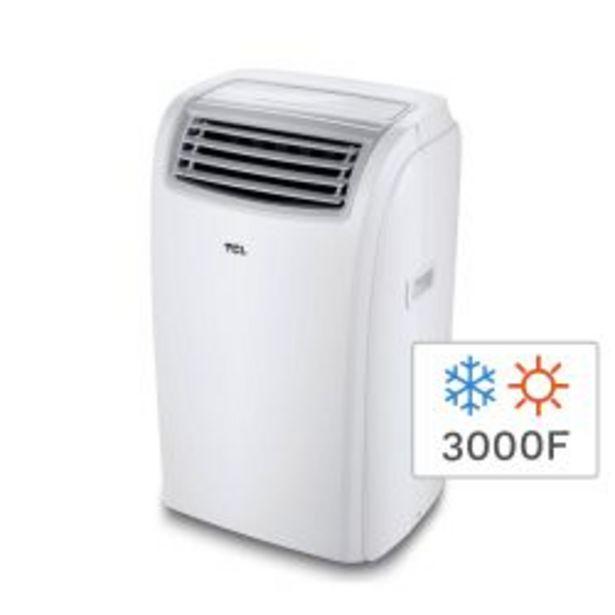 Oferta de Aire Acondicionado Portátil Frío Calor TCL TACA-3500FCSA 3000F 3500W por $41999