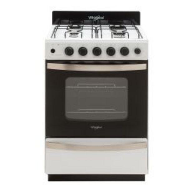 Oferta de Cocina Whirlpool Multigas WFB57DW 56cm por $49999