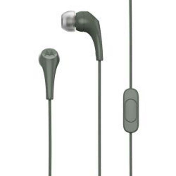 Oferta de Auriculares Motorola Earbuds 2 Verde Oliva con Microfono por $600