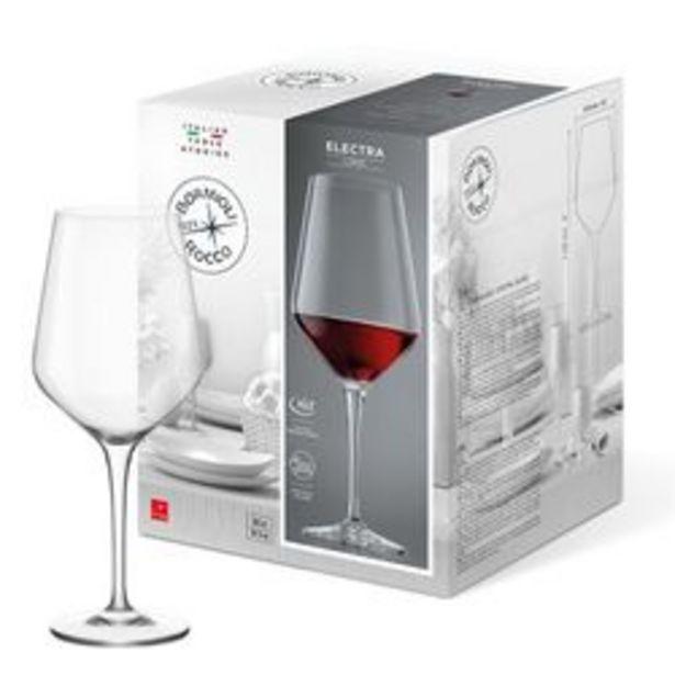 Oferta de Set de 6 Copones de Vino Bormioli Rocco Vidrio 550 cc Electra 1001716 por $3129