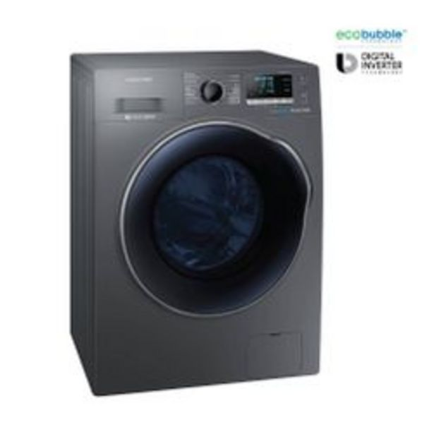Oferta de Lavasecarropas Samsung 10 Kg con Eco Bubble y motor Digital Inverter WD10J por $129999