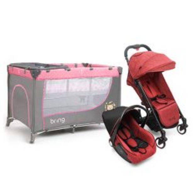 Oferta de Combo Practicuna Bring 6101 Rosa + Travel System Bring 5205 Rojo por $35999
